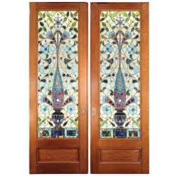 Stained Glass Sliding Doors Stained Glass Pocket Doors At 1stdibs