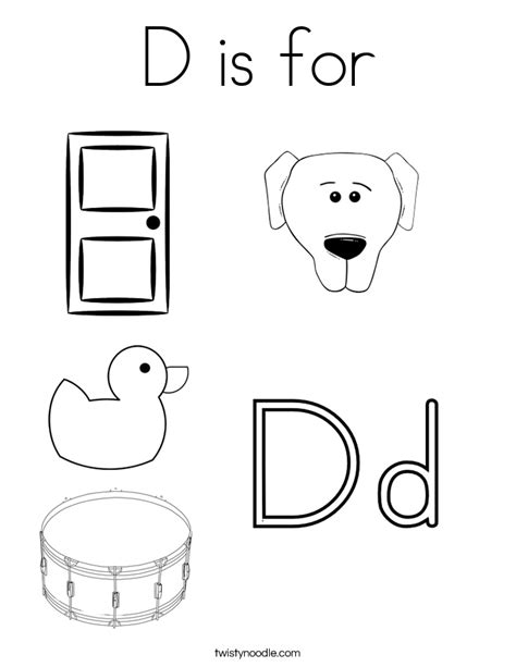 d coloring pages for kindergarten free coloring pages of dog letter d