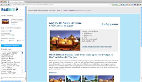 craigslist real estate template real estate listing syndication single property websites