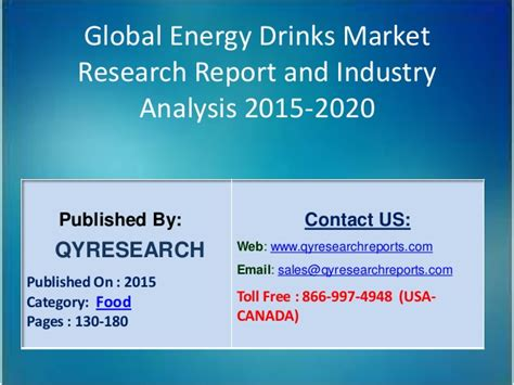 energy drink industry analysis global energy drinks market 2015 industry size