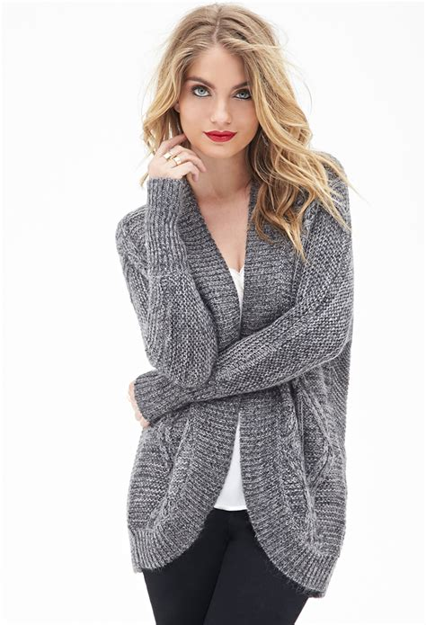 Cardigan Batwing forever 21 contemporary cable knit batwing cardigan in