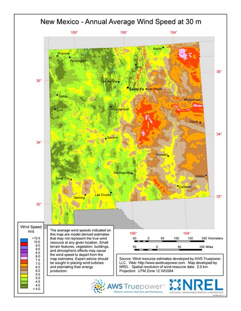 resource map of mexico windexchange new mexico 30 meter residential scale wind
