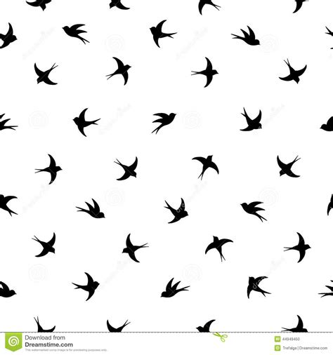 Black And White Bird Pattern | flying birds silhouette pattern stock vector image 44949450