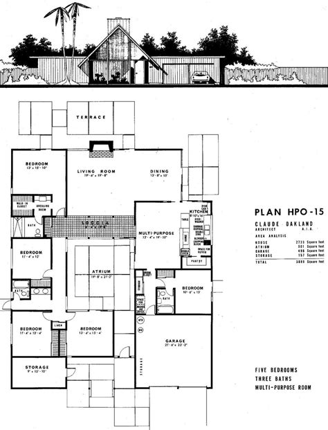 joseph eichler floor plans house history 101 how to research your pad and find your plans eichler network