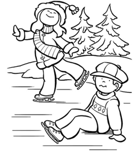 kids ice skating coloring pages az coloring pages