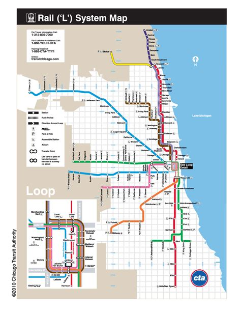 chicago map cta l chicago map