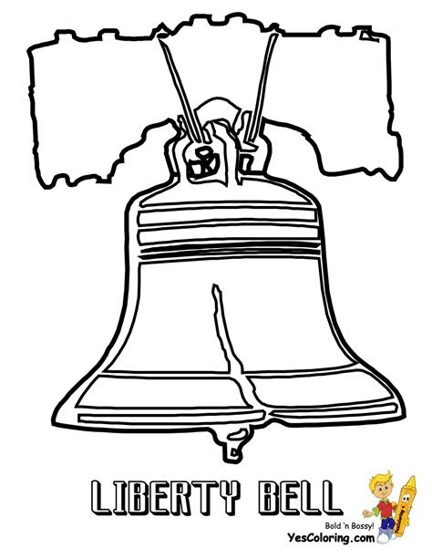 Patriotic July 4th Coloring Pages July 4th Free Liberty Bell Coloring Page