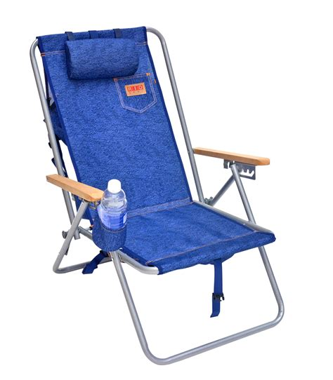Pouch Chair by Hi Back Deluxe Steel Backpack Chair With Storage Pouch Ebay