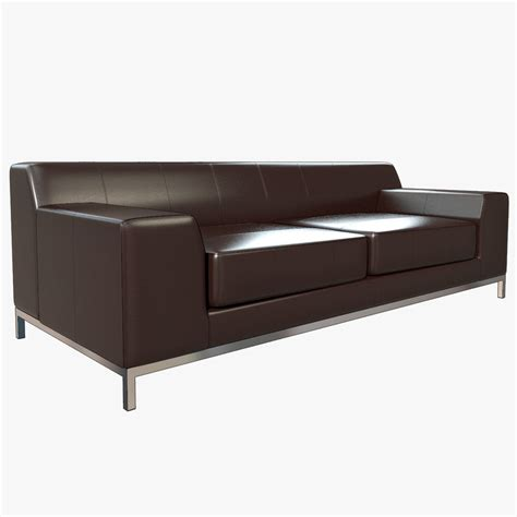 Kramfors Leather Sofa Maya Photorealistic Kramfors Ikea