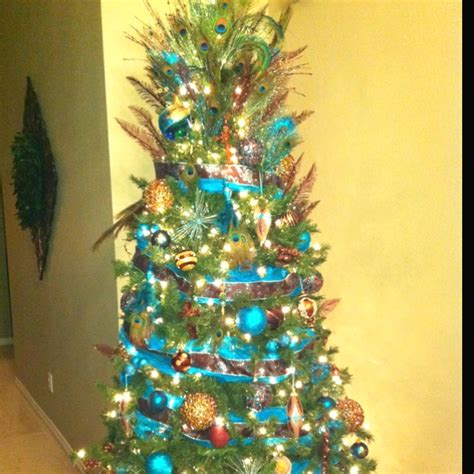 my peacock christmas tree christmas decor ideas pinterest