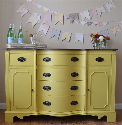 Helen Nichole Designs Custom Mustard Yellow Buffet Yellow Buffet