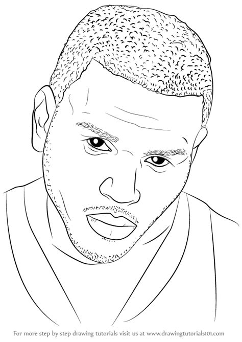 How To Draw Chris Brown learn how to draw chris brown singers step by step