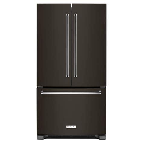 kitchenaid refrigerator reviews door shop kitchenaid 25 2 cu ft 3 door door refrigerator