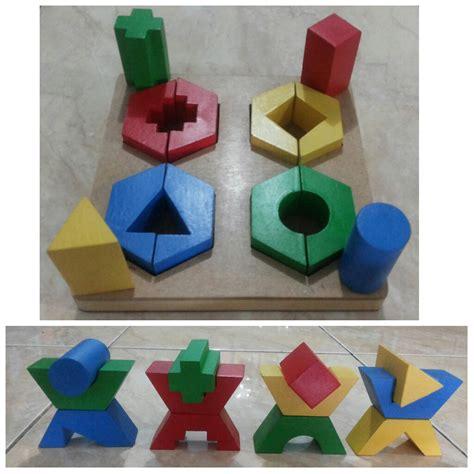 Puzzle Kayu Geometri by Jual Jual Mainan Edukasi Kayu Murah Geometri Puzzle 4
