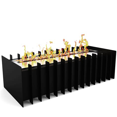 pro 18 in ventless bio ethanol fireplace grate burner