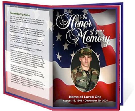 free memorial card templates for mac free funeral program templates or patriotic
