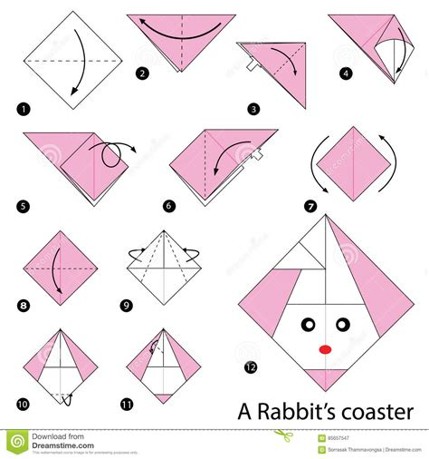 origami easter bunny basket image collections