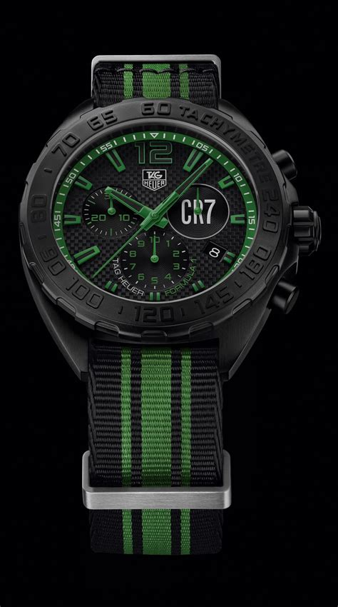 Tagheuer Cr7 Black Green high quality swiss replica watches uk tag heuer