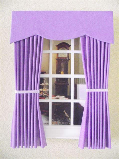 making dolls house curtains miniature doll house 12th scale curtains drapes plain