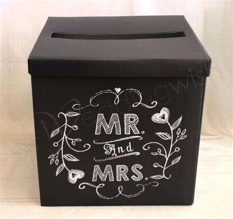 Wedding Wishes Box by Wedding Mr And Mrs Wishing Well Black Card Box Wedding Wish