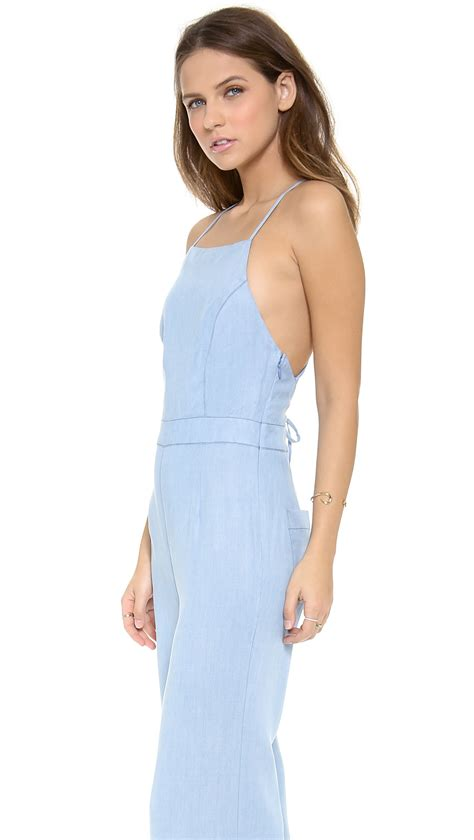 Dolce Jumpsuit lyst dolce vita lolia jumpsuit light blue in blue