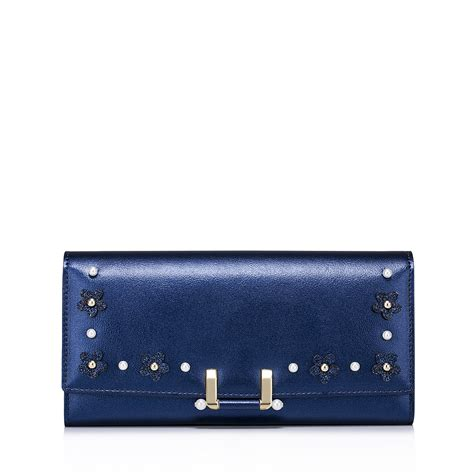 Dompet New Edition 2017 Oem Pu Leather nucelle pu leather 2017 new handmade flowers wallet blue