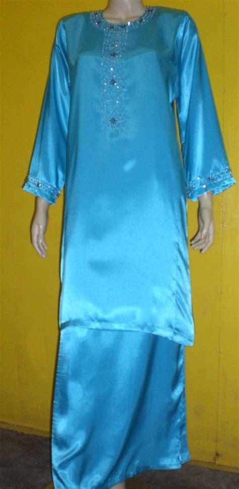 Baju Tidur Satin Biru sinaran kamunting 52 baju kurung satin bermanik rm96 00