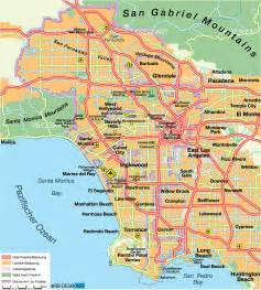 map of los angeles united states usa map in the atlas