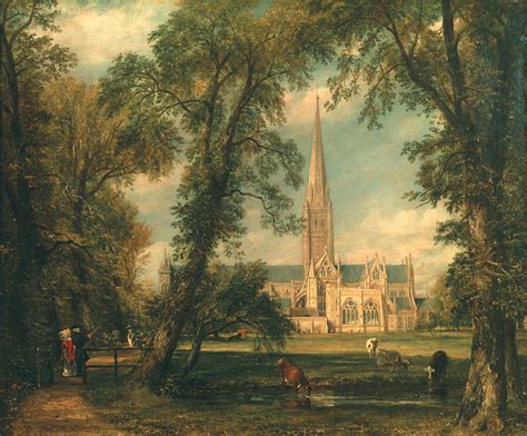 by john constable salisbury cathedral salisbury cathedral from the bishop s grounds