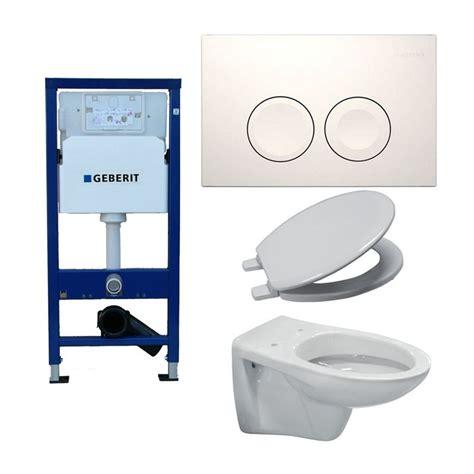 Bidet Suspendu Geberit by Pack Toilette Suspendue Geberit Complet Touche Blanche