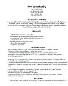 Pta Resume by Physical Therapy Resume Sle Best Business Template