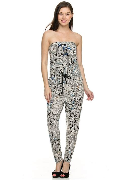 jumpsuit patterns for juniors strapless tube necktie tie waist jumpsuit full length