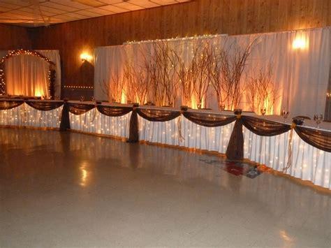 Rustic,Fall Head Table Backdrop   CC Events,LLC