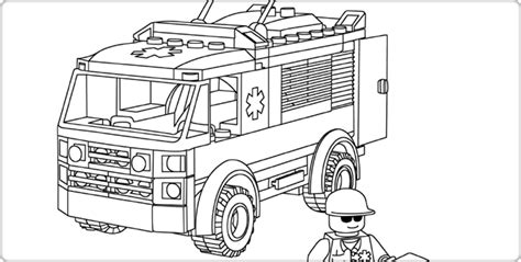 lego ambulance coloring pages free coloring pages of lego police truck