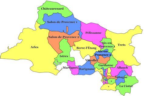 carte des bouches du rh 244 ne communes d 233 taill 233 e relief