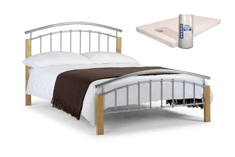 24 Hour Mattress Delivery by Tetras 4ft6 Metal Frame And Mattress Deal Free 24