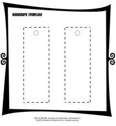 bookmark printing template book templates