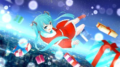 imagenes anime hd para escritorio christmas hat hatsune miku santa costume santa hat