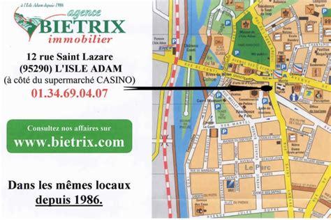 Carte plan l'Isle Adam val d'oise BIETRIX immobilier since 30 ans