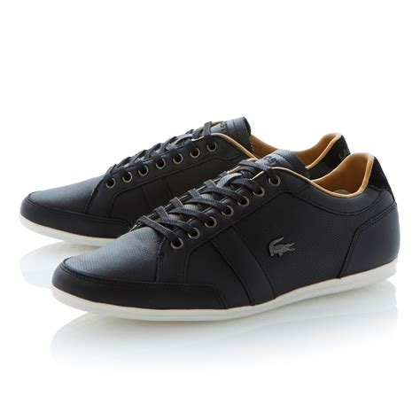 lacoste keel frs boatstyle casual lace up shoe in black