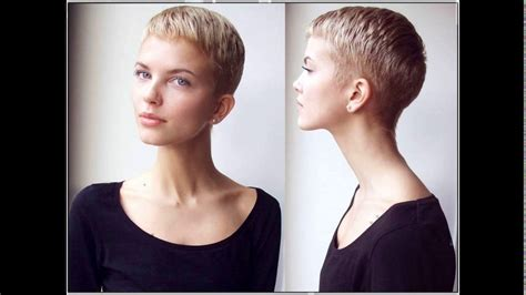 2 inch haircut for women very short womens haircuts with shaved napes hair