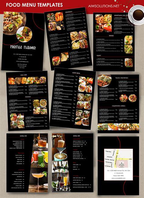 Diy Restaurant Menu Template Diy Do It Your Self Bar Food Menu Template