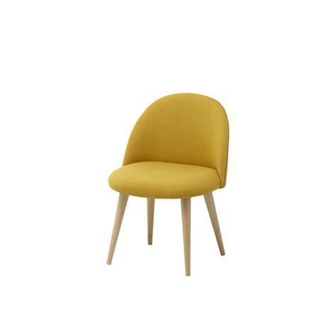chaise vintage enfant en tissu et bouleau massif jaune