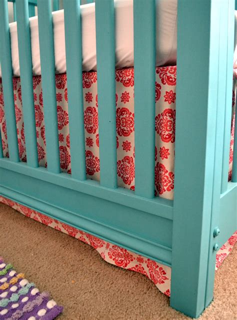 Sewing A Crib Skirt by Millie S Teal Yellow Nursery Project Nursery
