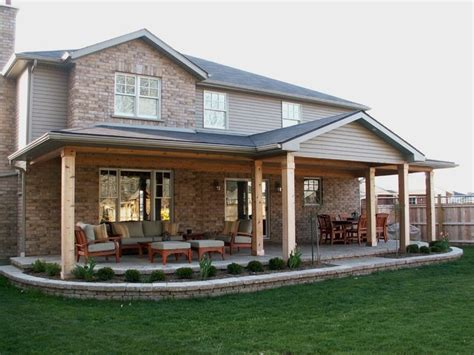 Rear Patio Designs Rear Covered Porch Traditional Patio Toronto By Heritage Stoneworks Ltd