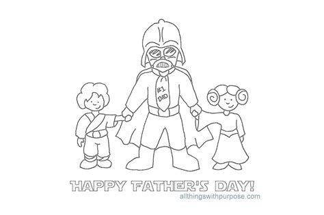 star wars father s day coloring page fun fathers day printable images