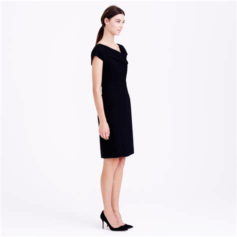 J Crew Origami Dress - j crew origami dress in wool crepe in black lyst