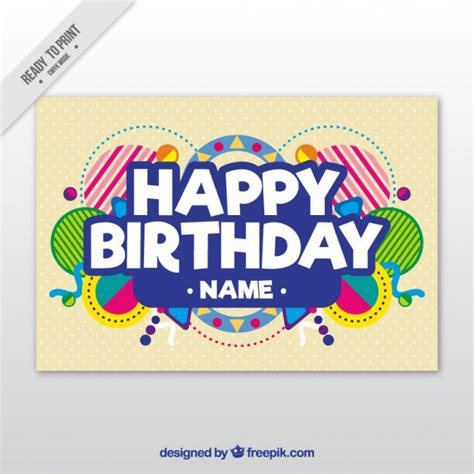 birthday card template vector premium
