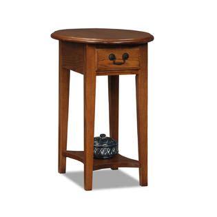 Livingroom End Tables Leick Oval End Table Medium Oak Home Furniture