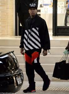Offwhite I M His Sneaker Cde tyga does some last minute gift buying at barneys new york